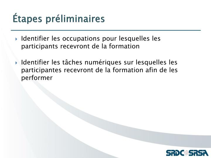 Tapes pr liminaires