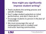 how might you significantly improve student writing