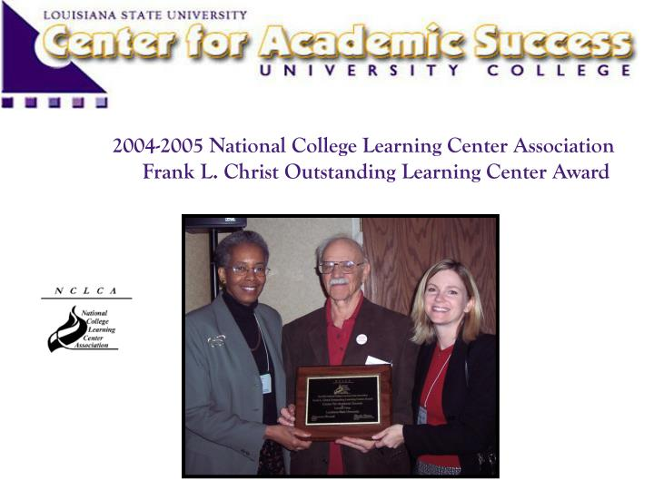 2004-2005 National College Learning Center Association