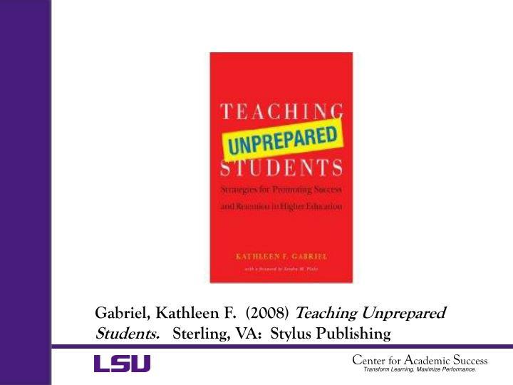 Gabriel, Kathleen F.  (2008)