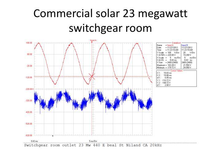 Commercial solar 23 megawatt