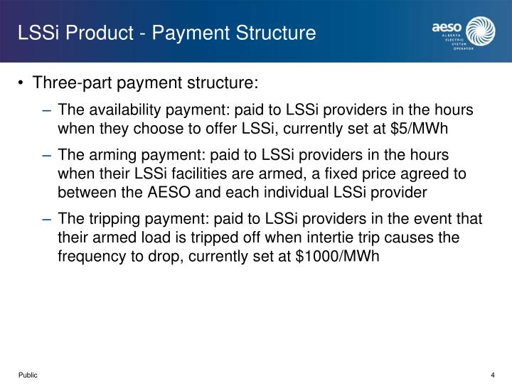 LSSi Product - Payment Structure