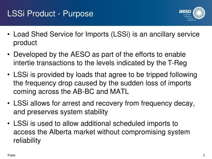 LSSi Product - Purpose