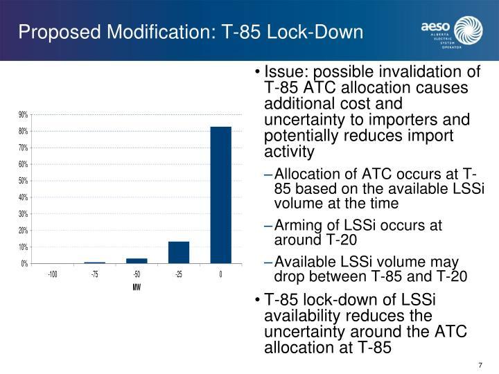 Proposed Modification: T-85 Lock-Down