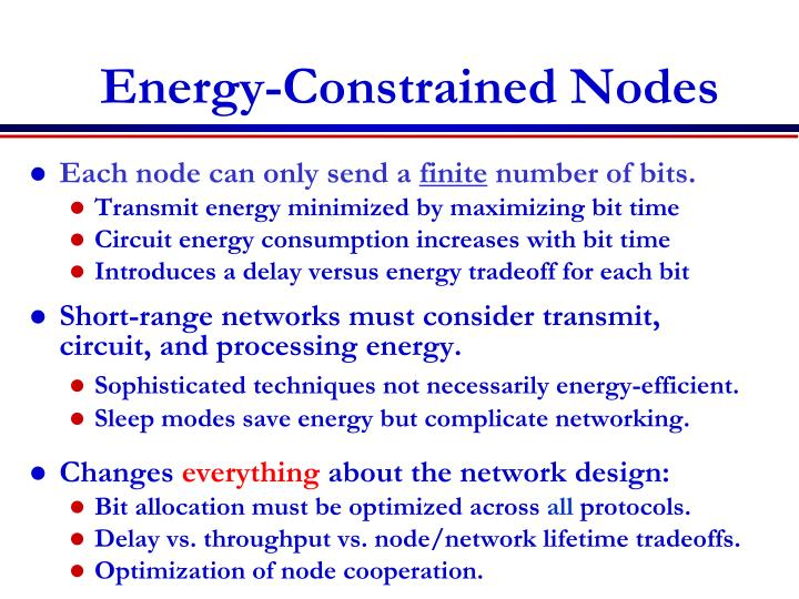 Energy-Constrained Nodes