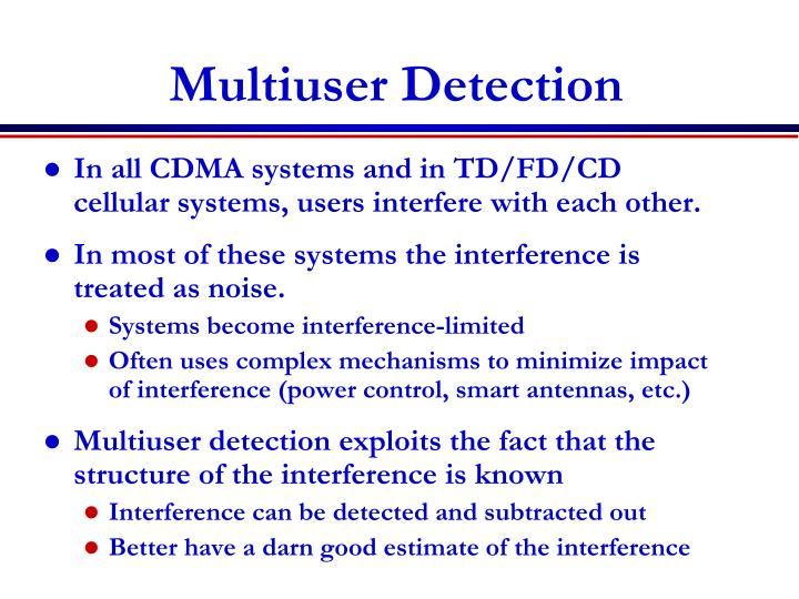 Multiuser Detection