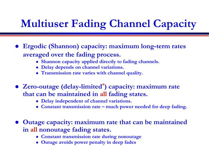 Multiuser Fading Channel Capacity