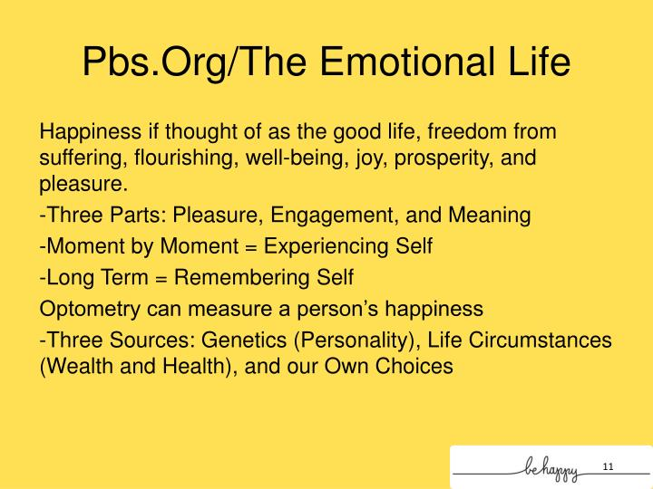 Pbs.Org/The Emotional Life