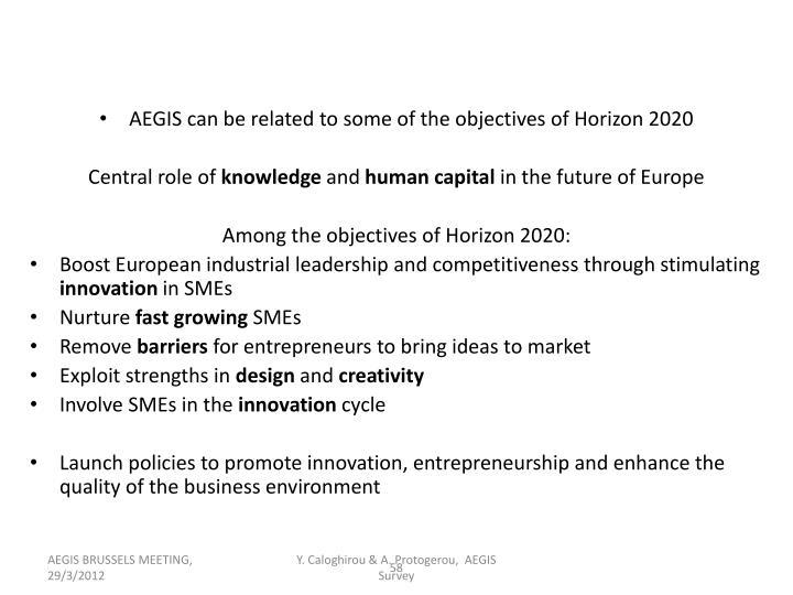 AEGIS and Horizon 2020