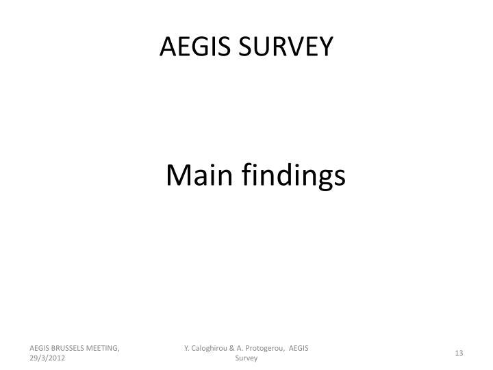 AEGIS SURVEY