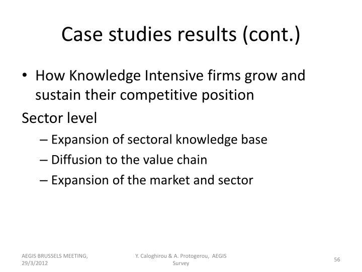 Case studies results (cont.)
