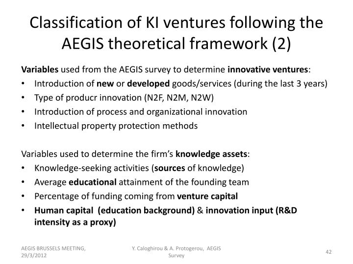 Classification of KI ventures following the AEGIS theoretical framework (2)