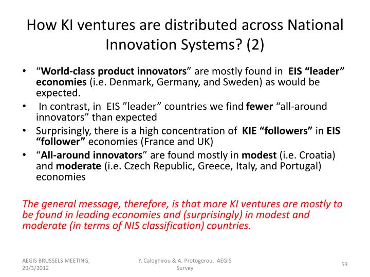How KI ventures are distributed across National Innovation Systems? (2)