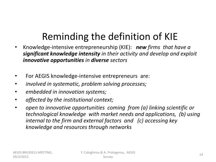 Knowledge-intensive entrepreneurship