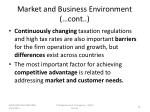 market and business environment cont