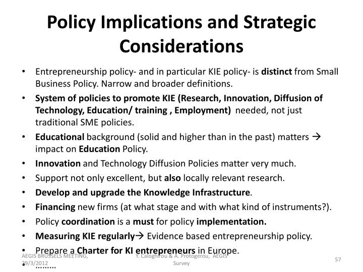 Policy Implications and Strategic Considerations