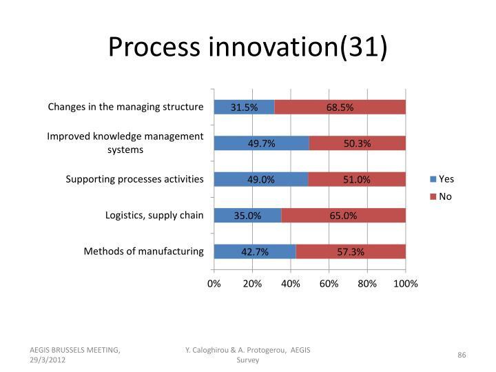 Process innovation(31)
