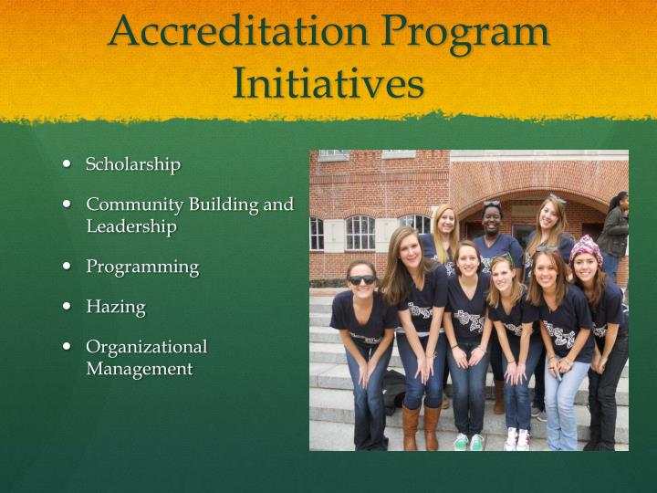 Accreditation Program Initiatives