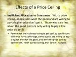 effects of a price ceiling1