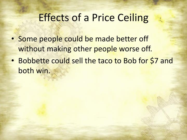 Effects of a Price Ceiling