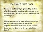 effects of a price floor5