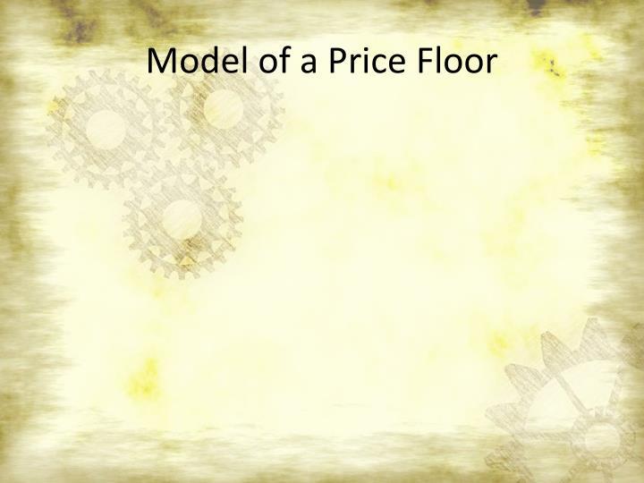 Model of a Price Floor