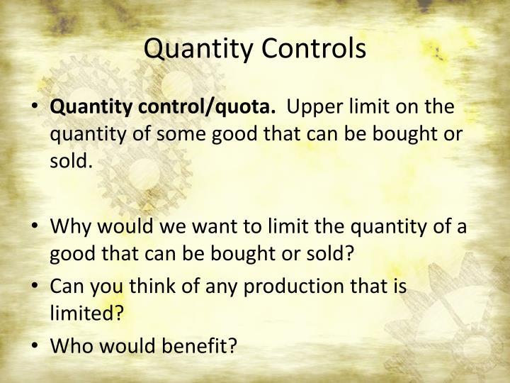 Quantity Controls