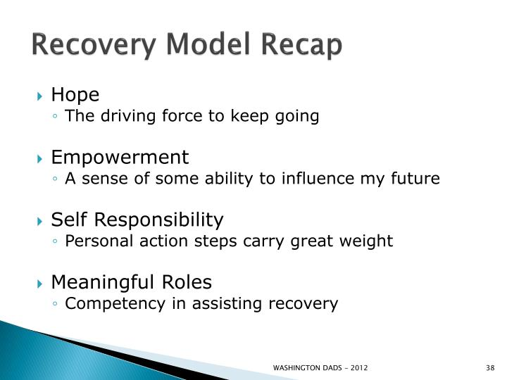 Recovery Model Recap