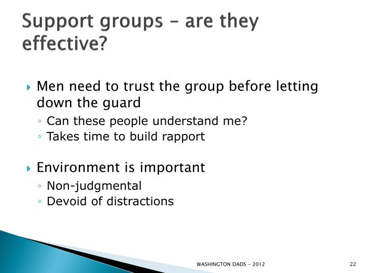 Support groups – are they effective?