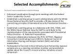 selected accomplishments1