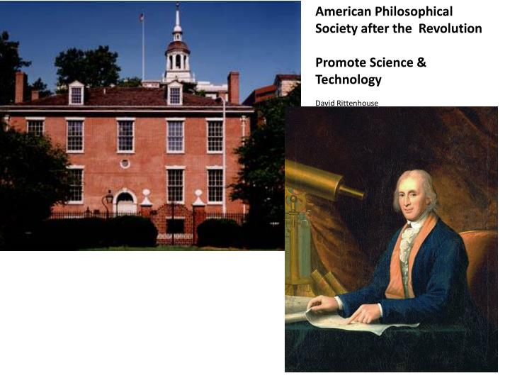 American Philosophical Society after the  Revolution