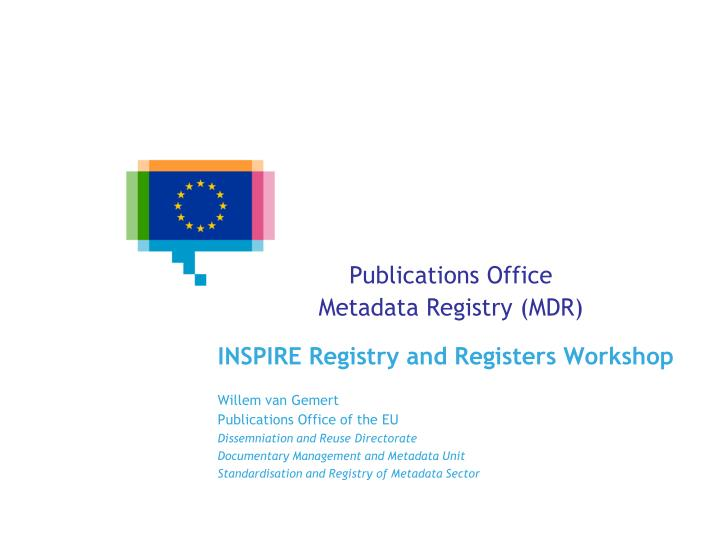 publications office metadata registry mdr