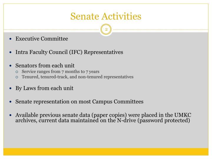 Senate Activities