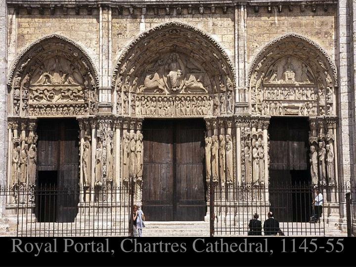 Royal Portal, Chartres Cathedral, 1145-55