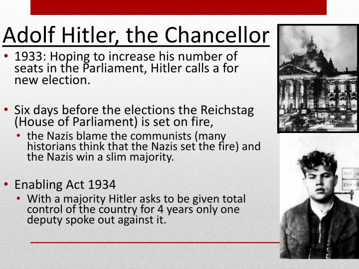 1933: Hoping to increase his number of seats in the Parliament, Hitler calls a
