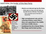 adolf hitler the leader of the nazi party