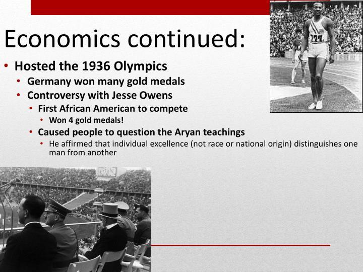 Economics continued:
