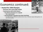 economics continued