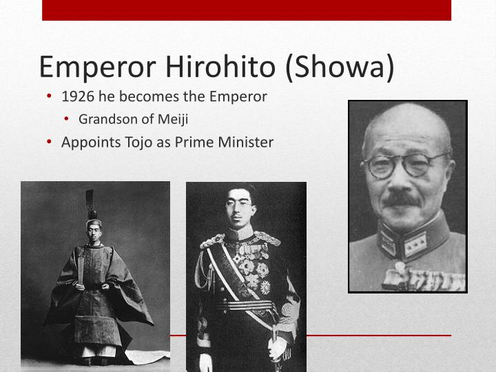 1926 he becomes the Emperor