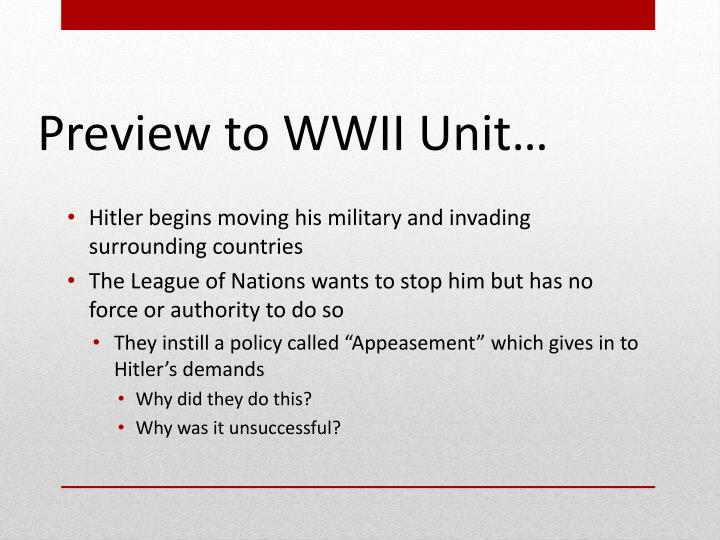 Hitler begins moving his military and invading surrounding countries
