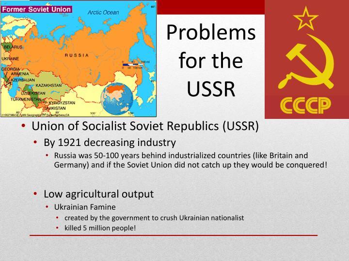 Union of Socialist Soviet Republics (USSR