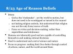8 23 age of reason beliefs