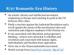 8 27 romantic era history