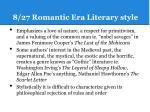 8 27 romantic era literary style