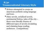 8 30 transcendental literary style1