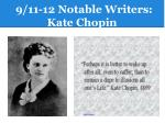 9 11 12 notable writers kate chopin