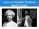 9 11 12 notable writers mark twain