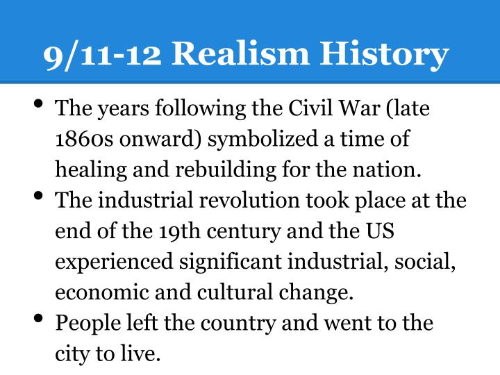 9/11-12 Realism History