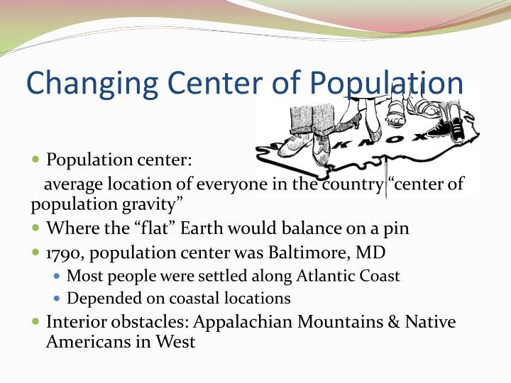 Changing Center of Population