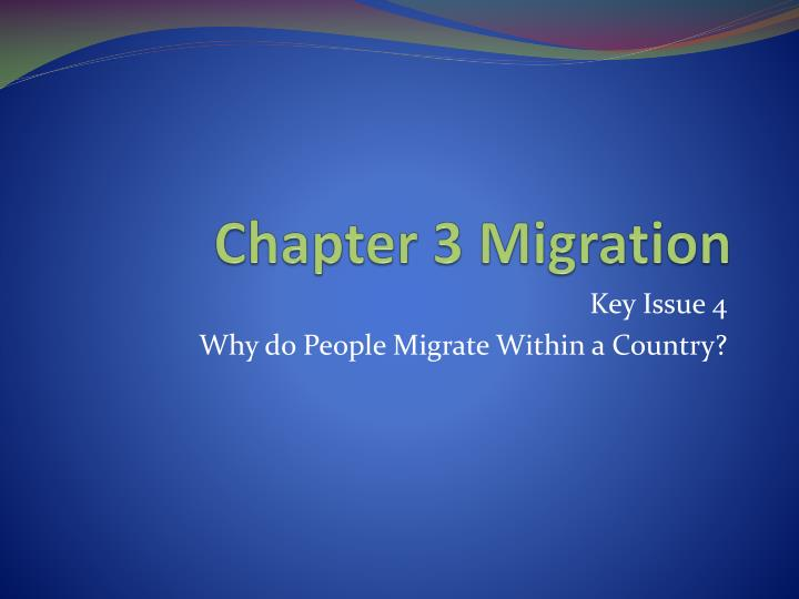 Chapter 3 migration